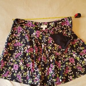 Loft flared floral skirt with pockets